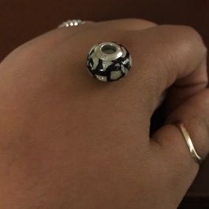 Black & sterling silver charm
